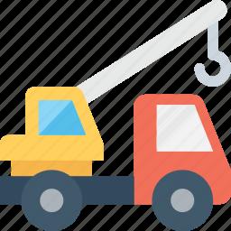 bulldozer, crane, excavator, heavy machinery, lifter icon