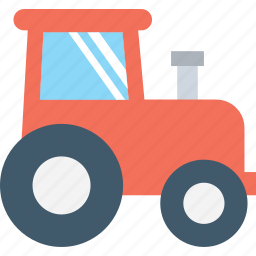 farm tractor, farm vehicle, tractor, transport, vehicle icon