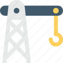 crane, development, heavy machinery, industrial crane, tower crane icon