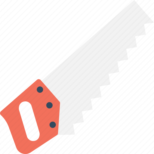 carpentry, cutting tool, hand saw, hand tool, saw icon