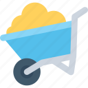 barrow, cart, hand cart, hand truck, wheelbarrow