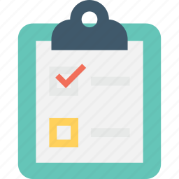 agenda, checklist, clipboard, plan list, schedule icon