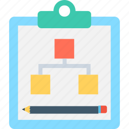 business strategy, clipboard, policy, procedure, work plan icon
