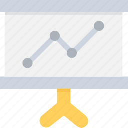 business presentation, chalkboard, easel, presentation, statistics icon