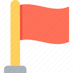 ensign, flag, pennant, plain flag, table flag icon