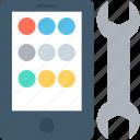 mobile development, mobile phone, mobile service, mobile setting, spanner