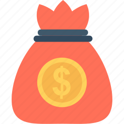 dollar, dollar pouch, dollar sack, finance, money icon