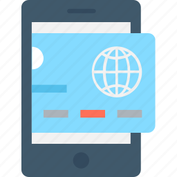 banking, credit card, m commerce, mobile, mobile banking icon