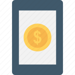banking, dollar, mobile, mobile banking, online payment icon