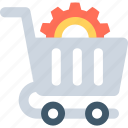 gear, seo, seo services, shop setting, shopping cart icon