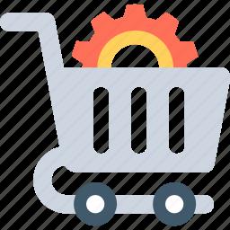 gear, seo, seo services, shop setting, shopping cart icon