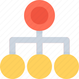 hierarchy, network, structure, topology, workflow icon