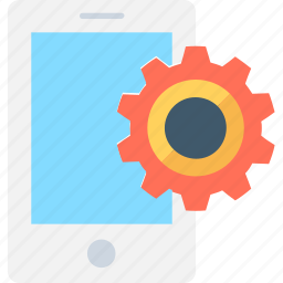 api, app development, cog, mobile, mobile setting icon