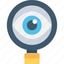 magnifier, observe, optimization, search, view icon