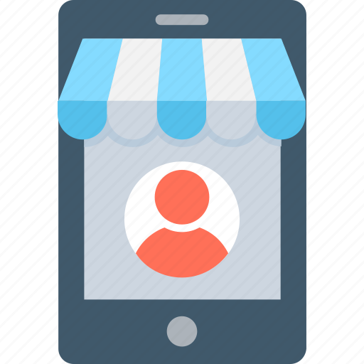 buy online, mobile marketing, mobile phone, online shopping, online store icon