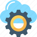 cloud maintenance, cloud setting, cog, network settings, settings icon