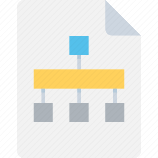 Hierarchy, topology, network, structure, workflow icon