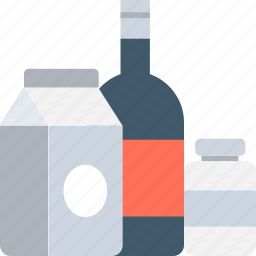 alcohol, beer bottle, beverages, drinks, milk carton icon