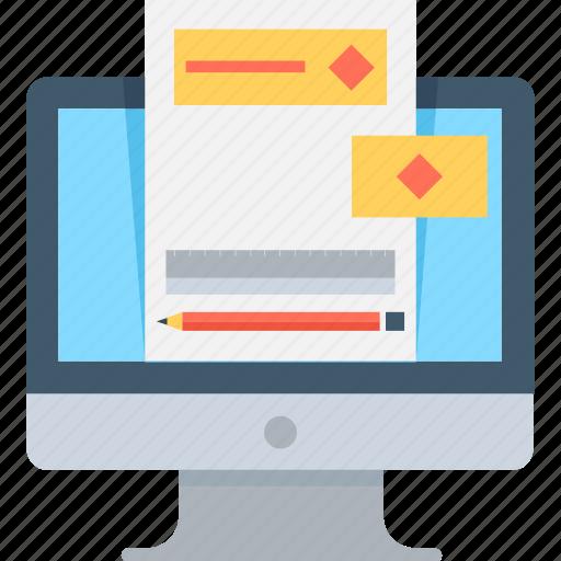 e book, e docs, lcd, monitor, online document icon
