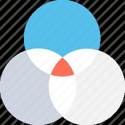 affiliate, circles, design, intersection, overlap icon