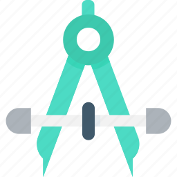 architecture, drafting tool, draw, geometric compass, geometric tool icon