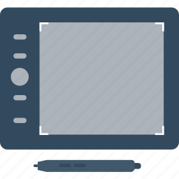 digital artboard, digitizer, drawing tablet, graphic tablet, pen tablet icon