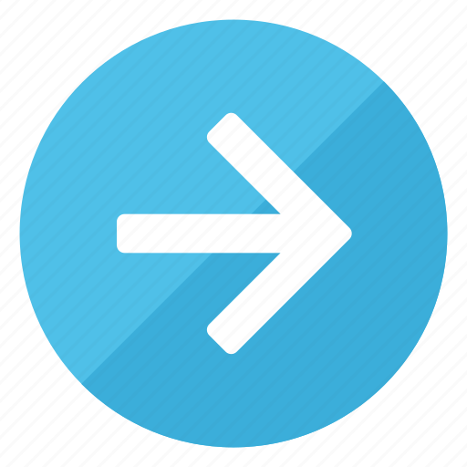 arrow, direction, gps, navigation, pointer, right, sign icon