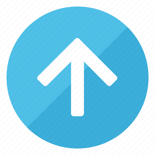 arrow, direction, gps, navigation, pointer, sign, up icon
