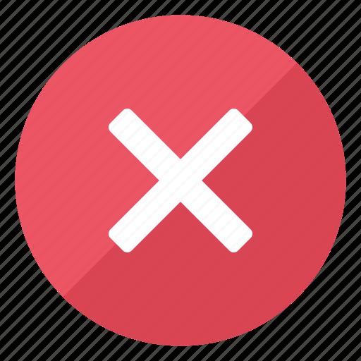 cancel, close, cross, error, exit, problem, stop icon