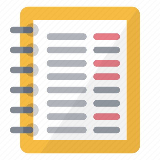 account, book, data, information, notes icon