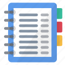 address, book, business, data, information, notes icon