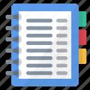 address, book, business, data, information, notes
