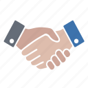 agreement, deal, hands, handshake, shaking icon