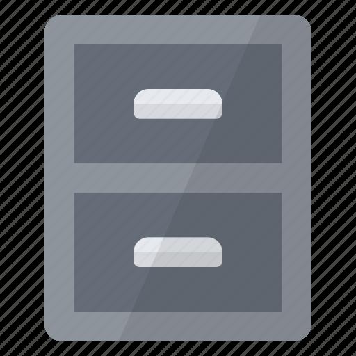 cabinet, data, drawer, information, storage icon