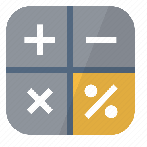 calculator, device, loan icon