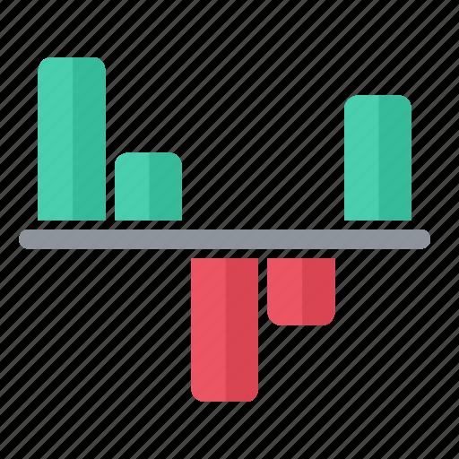 cash, chart, flow, graph icon