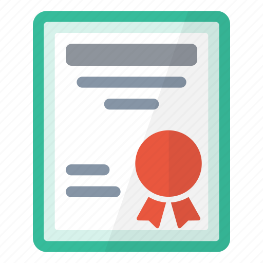 award, business, certificate, diploma icon