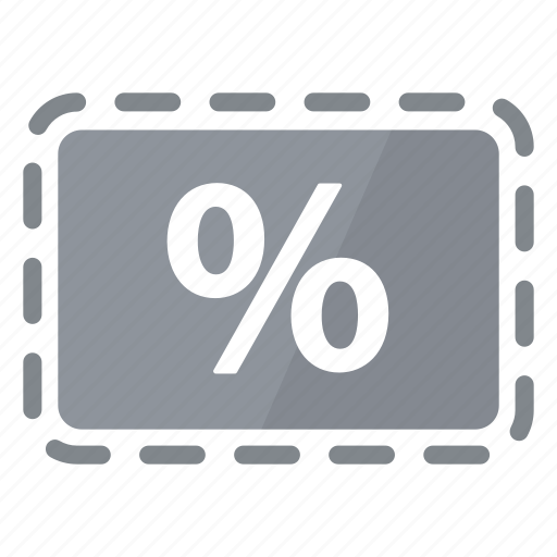 Coupon, deal, grey, percentage, promo, reduction, sale icon - Download on Iconfinder