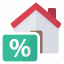 house, loan, percentage icon