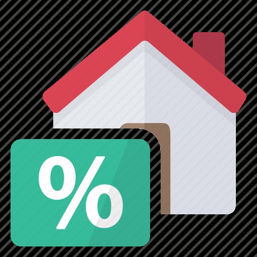 house, loan, percentage icon
