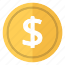 coin, currency, dollar, money, usa, worldwide icon
