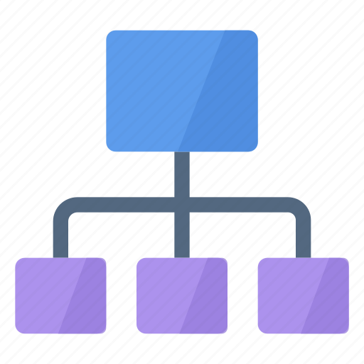 chart, diagram, flow chart, organization icon