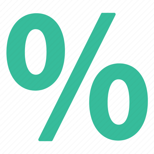 green, percentage, rate icon