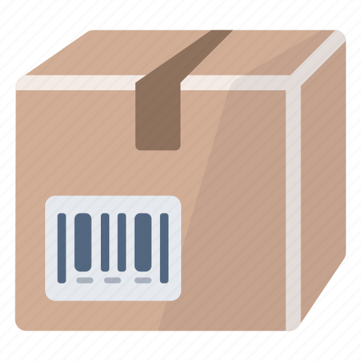 bar code, box, package, product, reference icon