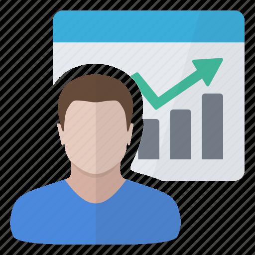 chart, customer, graphics, report icon