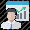 chart, employee, graphics, report icon