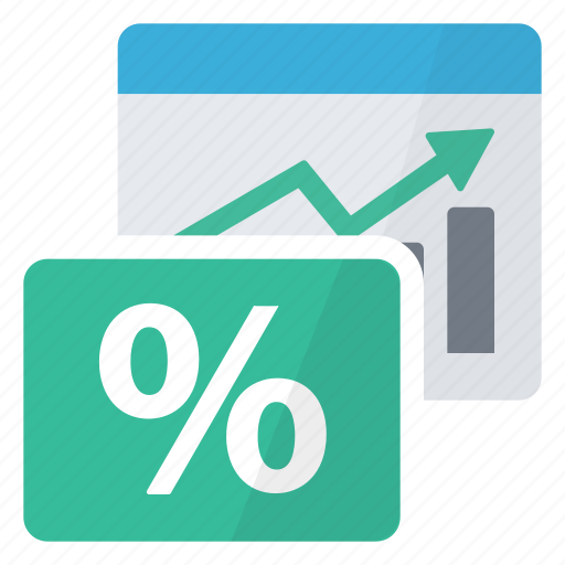 chart, graphics, loan, percentage, report icon