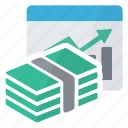 chart, graphics, money, report icon