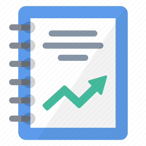 charts, explanations, graphics, information, print, report, summary icon