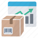 box, chart, graphics, package, product, report icon